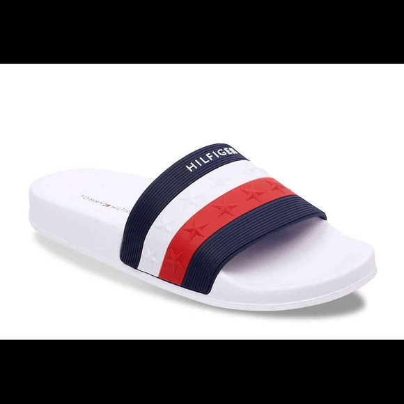 8888a30ccc5152 Tommy Hilfiger Dulce Slides red white blue